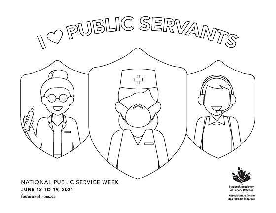 Federal Retirees NPSW 2021 poster.