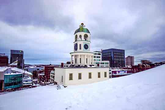 Halifax downtown old historical citadel clock