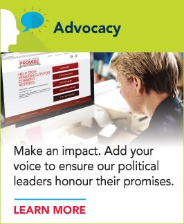 You can help make an impact — add your voice to ensure our political leaders honour their promises.