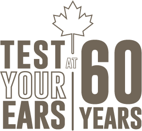 Logo:  Test your ears at 60 years.