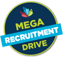 Logo:  Mega Recruitment Drive.