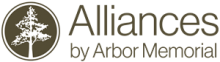 Logo:  Alliances by Arbor Memorial.