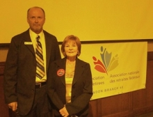 Irene Mathyssen  of the New Democratic Party and Branch President Gerry Filek